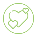 Home Page Green Heart Icon
