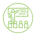 Home Page Green Presentation Icon